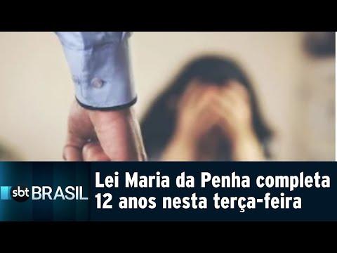 Lei Maria da Penha completa 12 anos nesta terça-feira (07) | SBT Brasil (07/08/18)