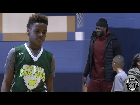 LeBron James Jr. shows off High IQ with King James watching!!! Bronny & Blue Chips CRUISE in Akron