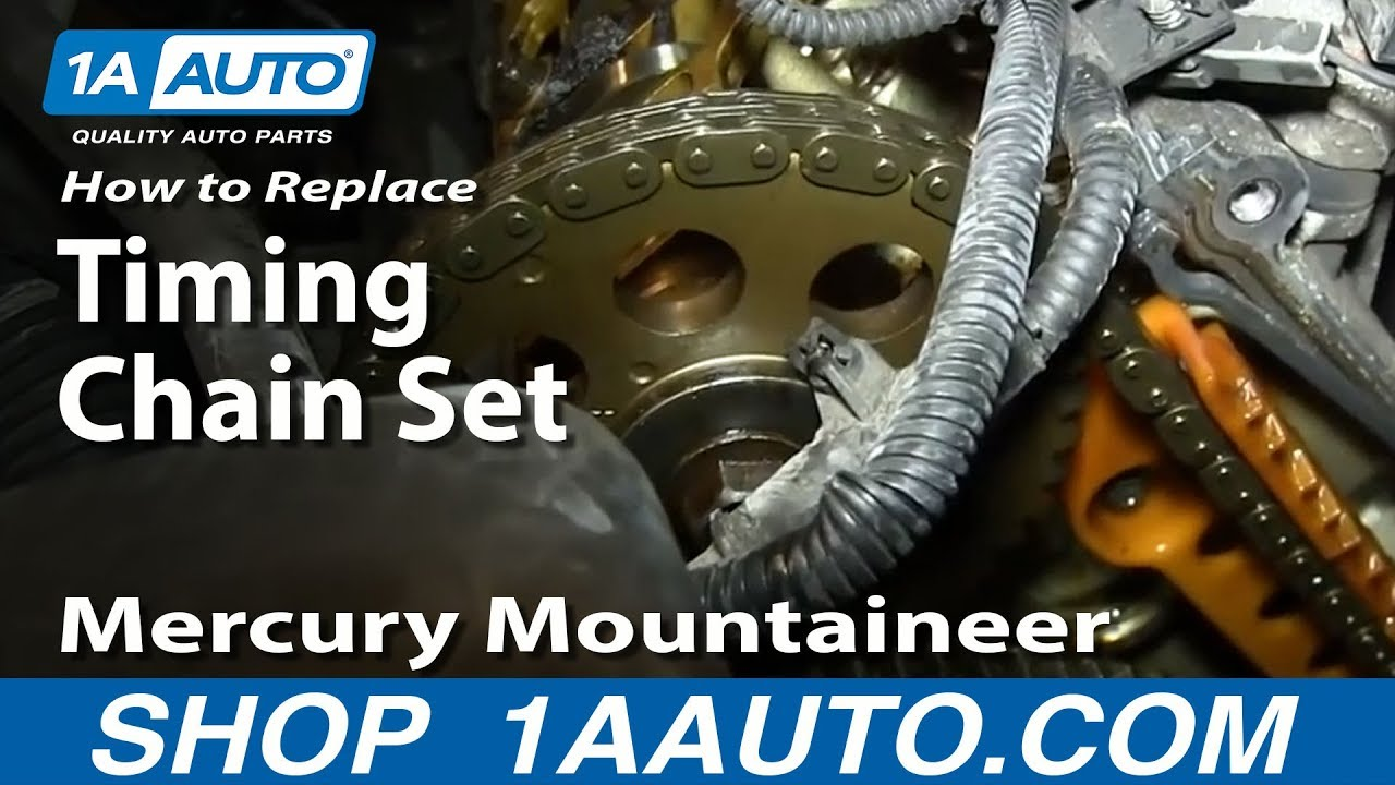 How to Replace Timing Chain Set 0205 Mercury Mountaineer  Part 2  YouTube