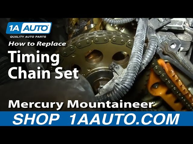 How To Replace Timing Chain Set 02 05 Mercury Mountaineer