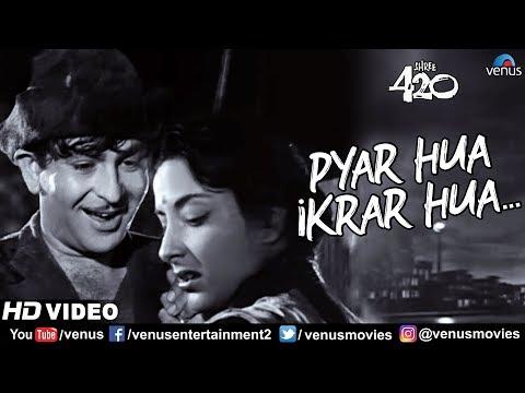 Pyar Hua Ikraar Hua   Raj Kapoor & Nargis   Shree 420   Bollywood Evergreen Songs   Lata Mangeshkar