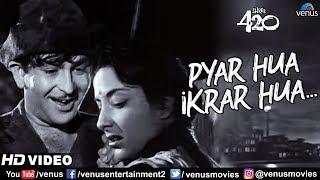 Pyar Hua Ikraar Hua | Raj Kapoor & Nargis | Shree 420 | Bollywood Evergreen Songs | Lata Mangeshkar