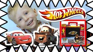 Cars For Kids Carrying Case! Hot Wheels Fast Lane Matchbox Toy Garage w/ Matchbox Cars Unboxing!