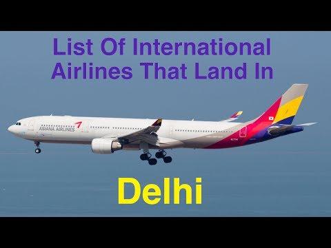 List of International Airlines That Land In DELHI (2016)