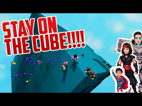 WE MUST STAY ON THE CUBE! Hilarious Roblox Game! |