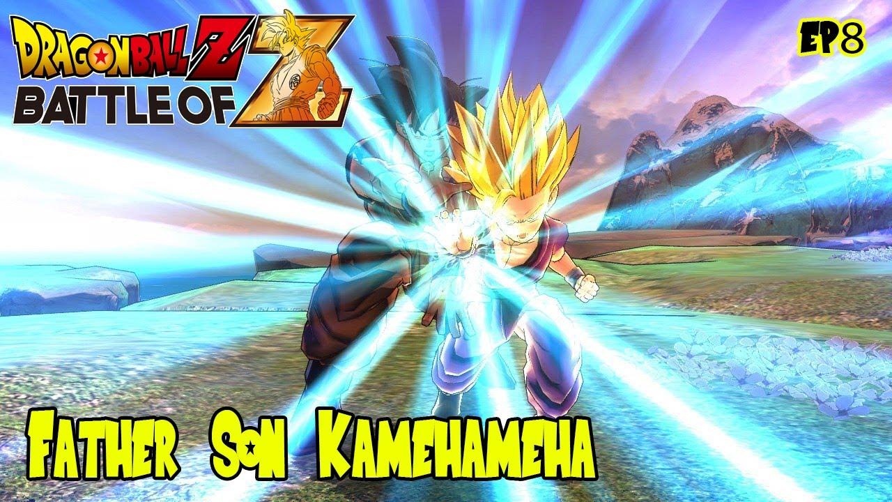 f1ab2a35 Dragon Ball Z: Battle of Z - Super Saiyan 2 Gohan's Father Son Kamehameha  Against Cell (Ep 8) - YouTube