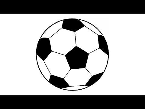 Wie Zeichnet Man Einen Fussball Einfach Youtube
