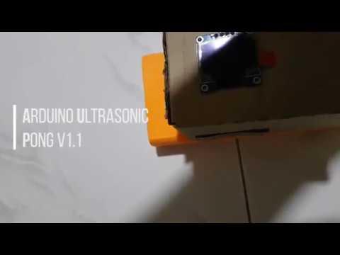 Arduino Ultrasonic Pong – Cyan Infinite