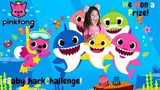 PINKFONG #BabySharkChallenge INSTAGRAM Winner!  Prize Unboxing