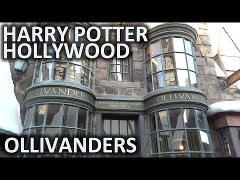 Ollivanders wand shop at Universal Studios Hollywood's Wizarding World of Harry Potter