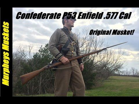 Shooting An Original 1853 Enfield Rifle Musket
