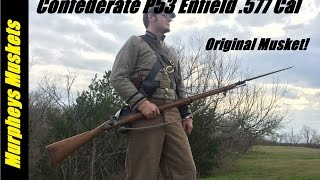 Shooting An Original 1853 Enfield Rifle Musket