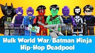 Hulk World War Batman  Ninja Hip-Hop Deadpool Ultimate Punisher & more Unofficial LEGO Minifigures
