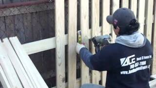 Ace Deck & Fence Inc: Picket Fence Install