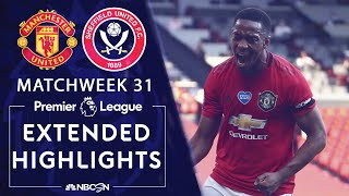 Manchester United v. Sheffield United | PREMIER LEAGUE HIGHLIGHTS | 6/24/2020 | NBC Sports