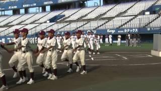 坊っちゃんスタジアムでの入場行進(大洲南中学校)