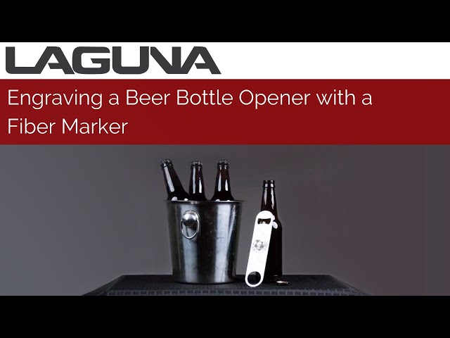 Engraving a Beer Bottle Opener with a Fiber Marker | Laguna Tools
