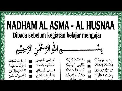 Nadhom Asma'ul Husna