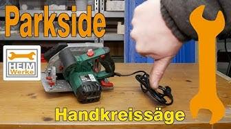 Parkside Handkreissäge PHKS 1350 C2 für 39€ ,  kurz angeschaut
