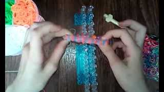Видеоурок#1 Двойной браслет из резинок Rinbow Loom
