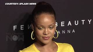 Rihanna Goes BRALESS   Shows Off Curves in Skintight Crop Top   Fenty Beauty Launch Party