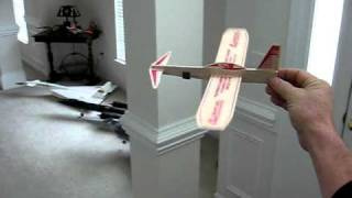 Guillows Canard Balsa Glider  Conversion  How To.