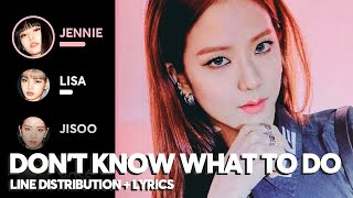 BLACKPINK - Don't Know What To Do (Line Distribution + Color Coded Lyrics)