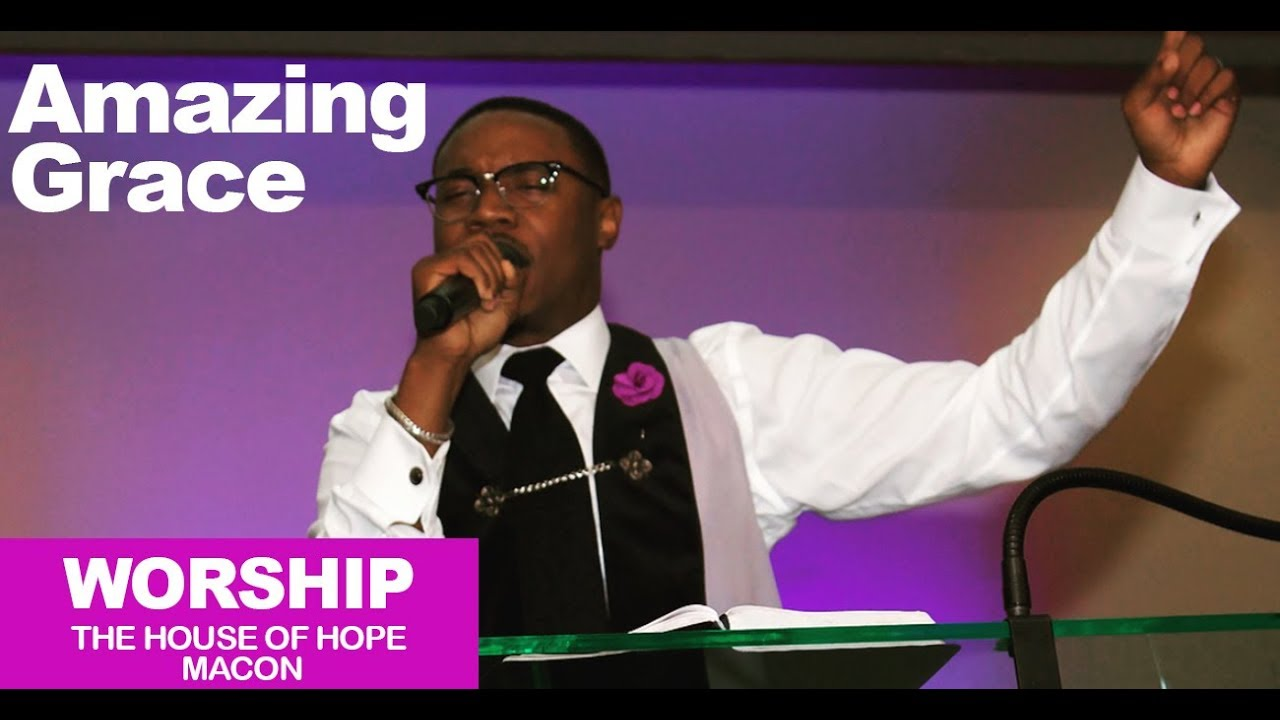 Pastor Reginald Sharpe singing Amazing Grace