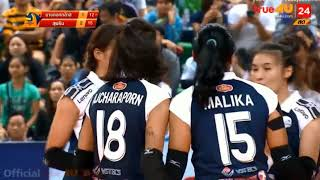 [Highlight ajcharaporn ] volleyball thailand league 2017 2018