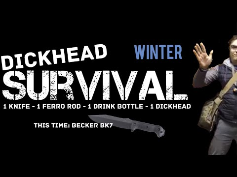 Dickhead Survival! Minimalist Survival Overnight Challenge - Becker BK7 (Language Warning)