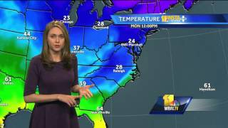 Winter weather to impact Baltimore area Monday