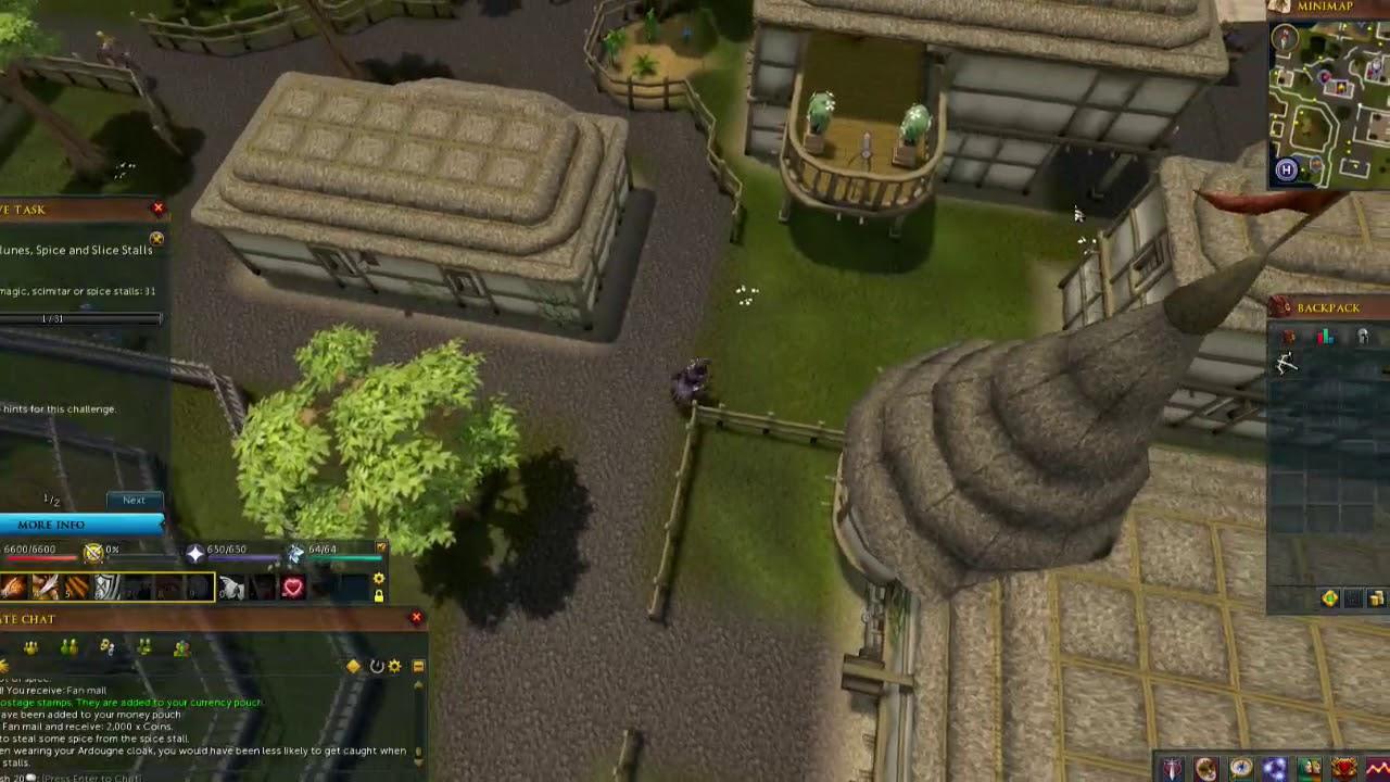 Runescape Stealing A Farming Plot Youtube