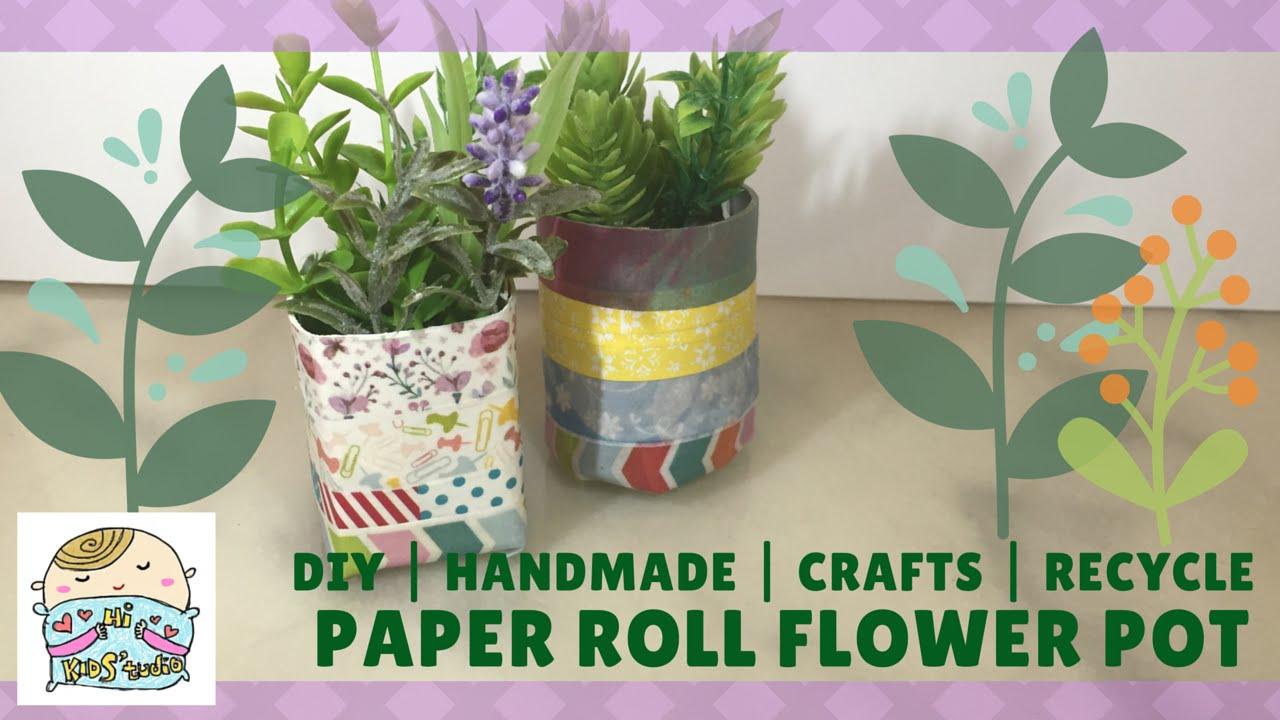 Recycled Paper Flower Pots Yolarnetonic