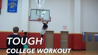 TOUGH COLLEGE WORKOUT - High-Level Skill Development Session over Holiday Break BEHIND THE SCENES