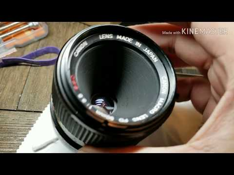 Canon FD macro 3.5 Front element disassembly