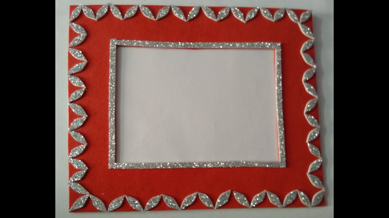 Handmade photo frame   beautiful photo frame   easy and simple frame ...
