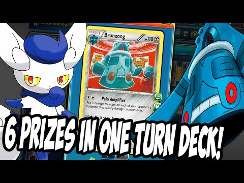 PTCGO New Bronzong/Meowstic Deck! Win The Game By Taking 6 Prizes At Once! Pokemon TCG Online