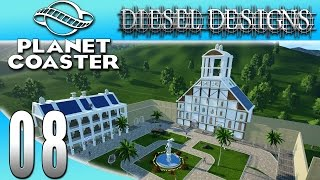 Planet Coaster : EP8: Bell Tower Time Lapse! (Theme Park Simulator 1080p)
