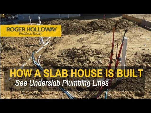 How A Slab House Is Built See Plumbing Lines Under The Slab Youtube