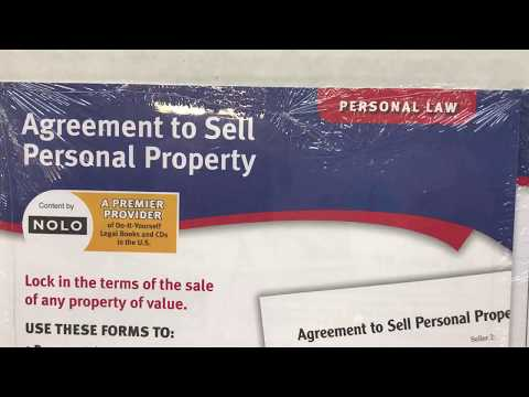 Agreement to sell personal property forms by Adams LF115-SB | Legal Law Forms