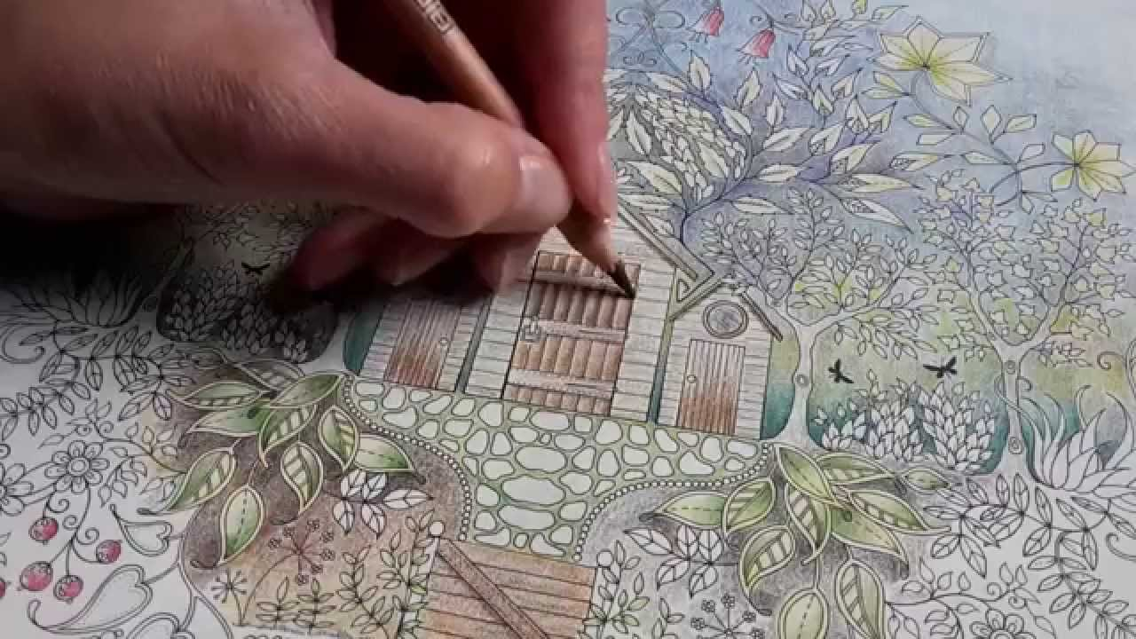 Colouring Secret Garden Approaching Thunderstorm On A