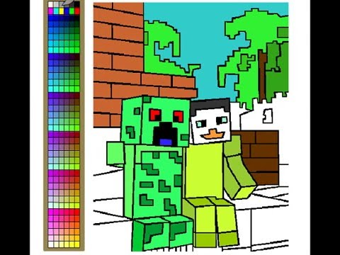 youtube minecraft coloring pages - photo#5