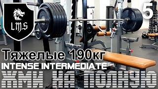 Жим лёжа без химии по системе LMS Intense Intermediate Видео: 5