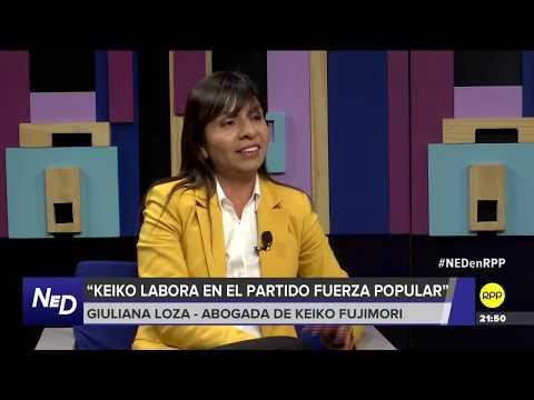 Giuliana Loza (abogada de Keiko Fujimori): 'Es muy probable que pidan prisión preventiva para Keiko'