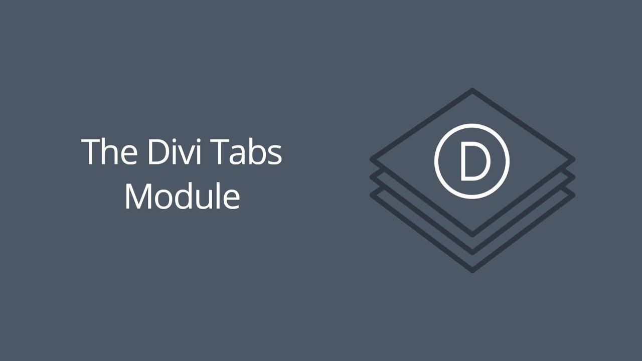 The Divi Tabs Module | Elegant Themes Documentation