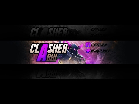 Speedart Photoshop Youtube Banner + Download Template For Free
