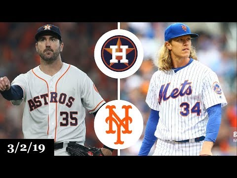Houston Astros vs New York Mets Highlights | March 2, 2019 | Spring Training