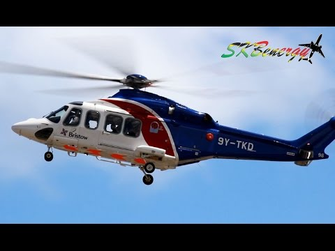 Bristow Helicopters - Agusta Westland AW139 in action @ St. Kitts R.L.B Int'l Airport