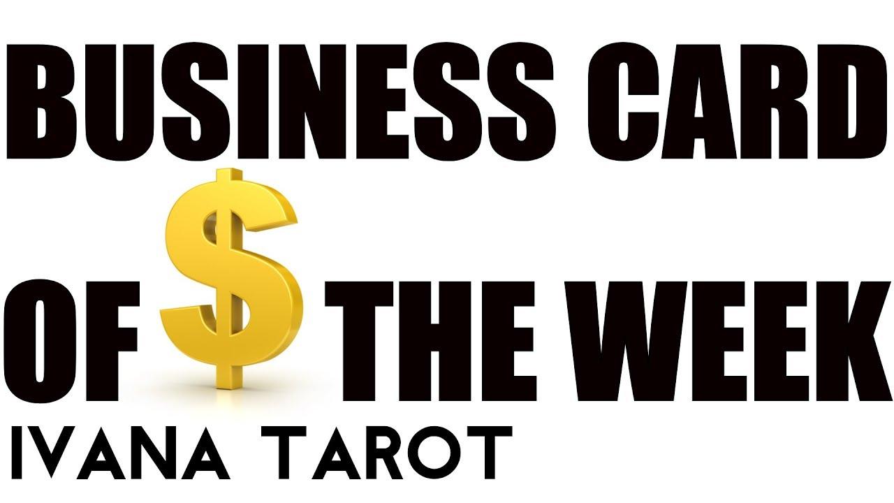 🔺 Business Card of the Week 21 - 28 May 2018, Ivana Tarot - YouTube