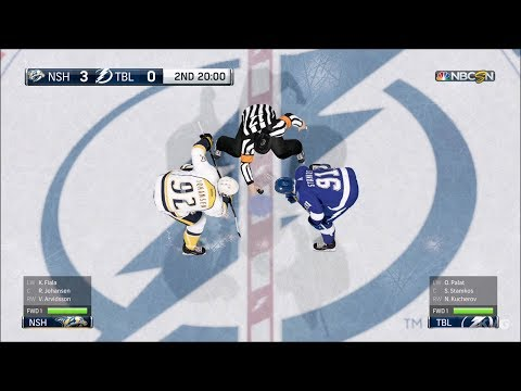 NHL 18 - Tampa Bay Lightning vs Nashville Predators - Gameplay (HD) [1080p60FPS]